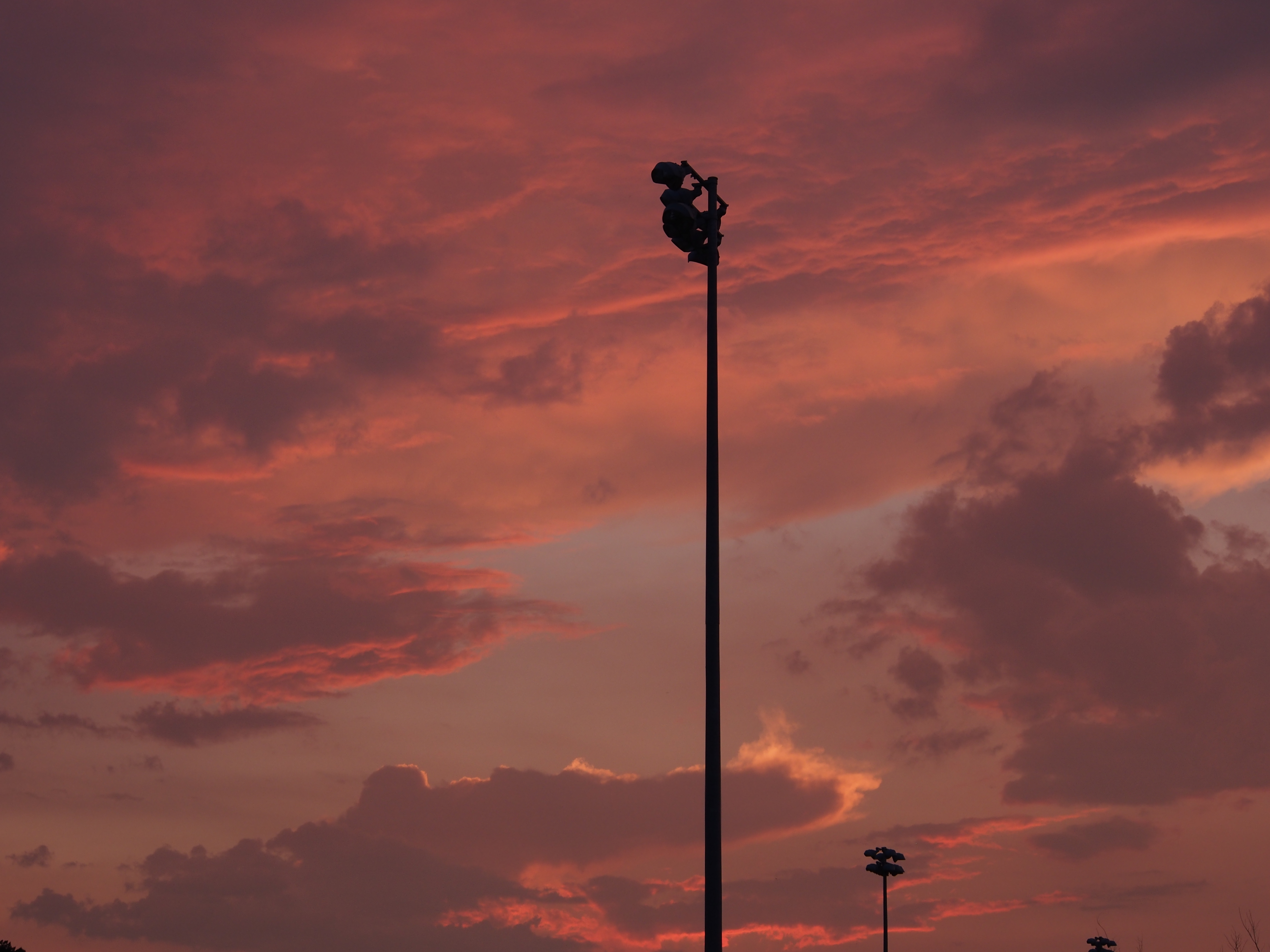 Lights at a soccer field