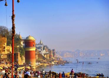 Unique and original view of Varanasi.