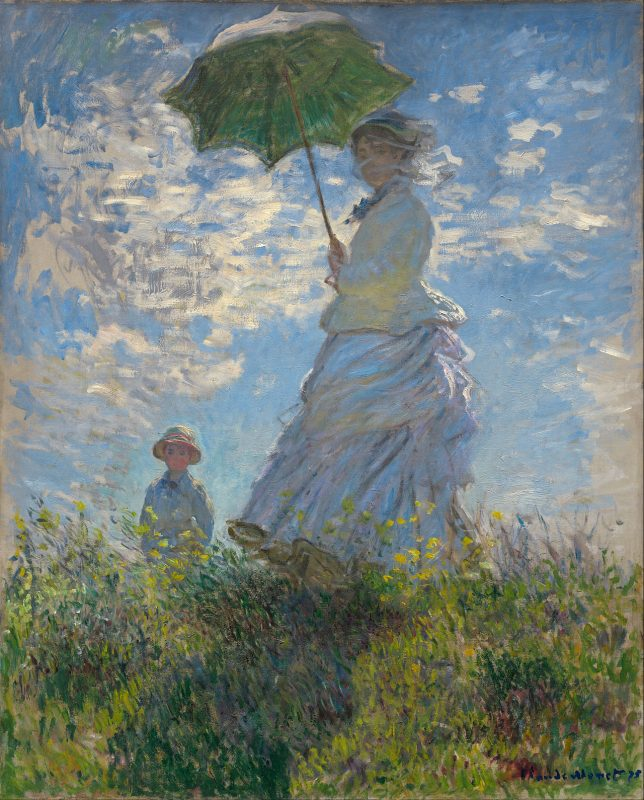 Woman with a Parasol by Claude Monet (Wikipedia)