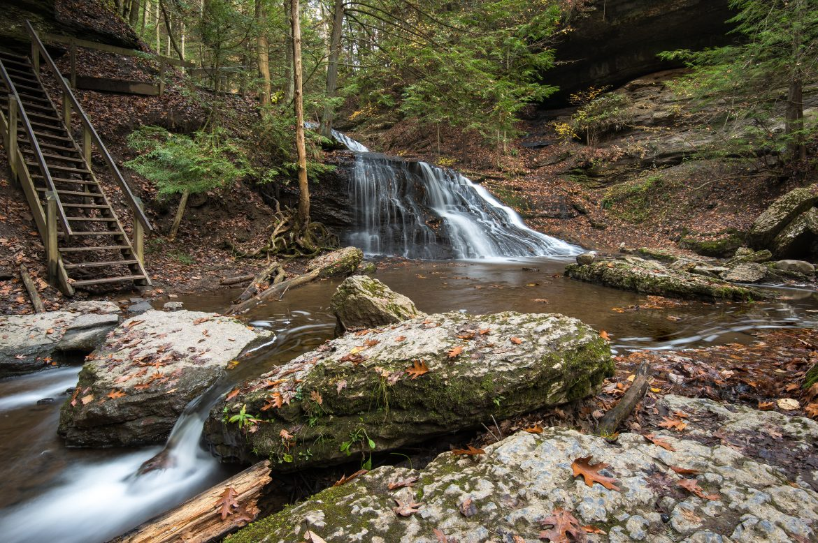 focus stack, hells hollow, outdoors, hike, waterfall, pennsylvania