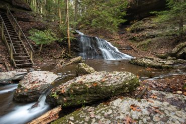 focus stack, hells hollow, outdoors, hike, waterfall, pennsylvania