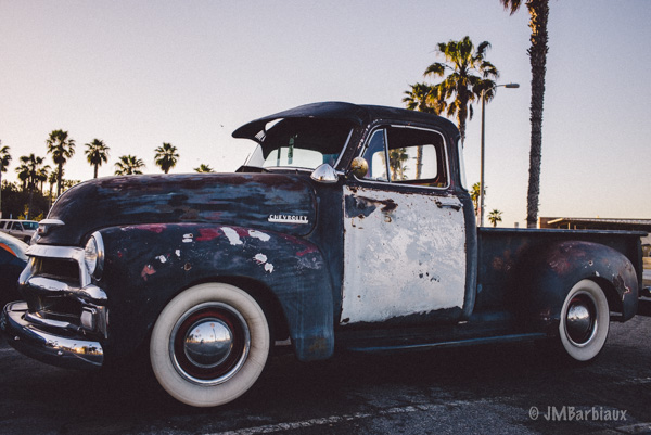 Truck, santa monica, street photography, classic, vintage, americana