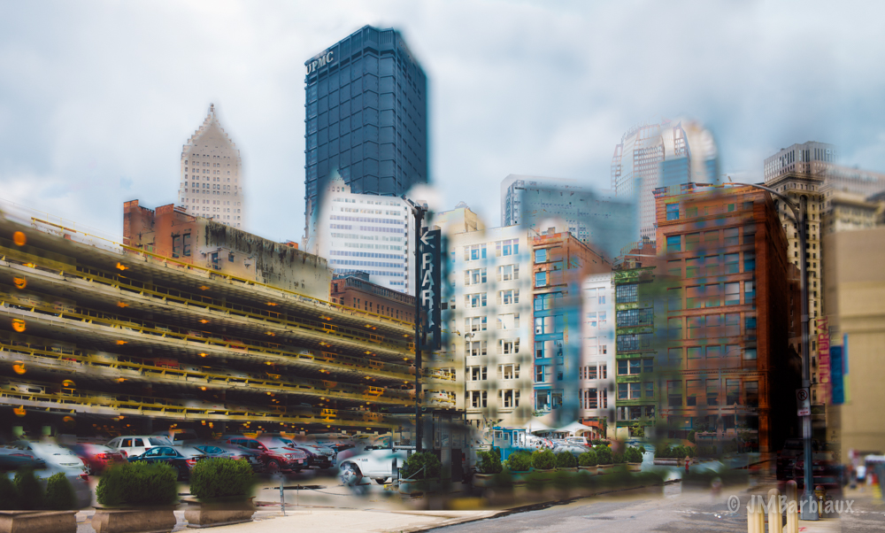 Watercolor looking Photograph of Pittsburgh