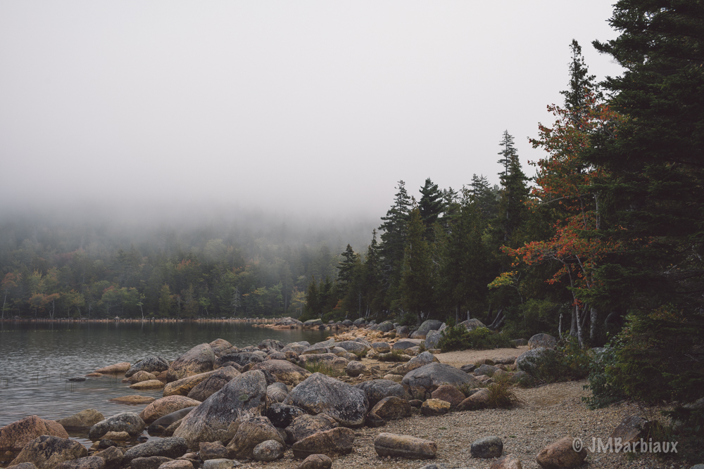 Acadia National Park, Jordon Pond, Leica M10, Fog, Morning, Fall