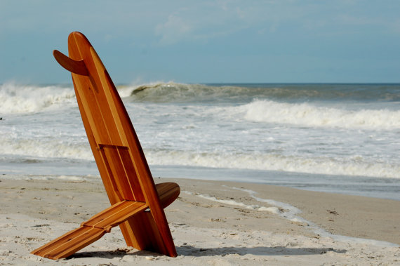 Handmade Surfboard Chair