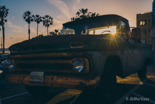 Venice Beach, Santa Monica, Street Photography, Fine art, vintage, truck, chevy, sunset