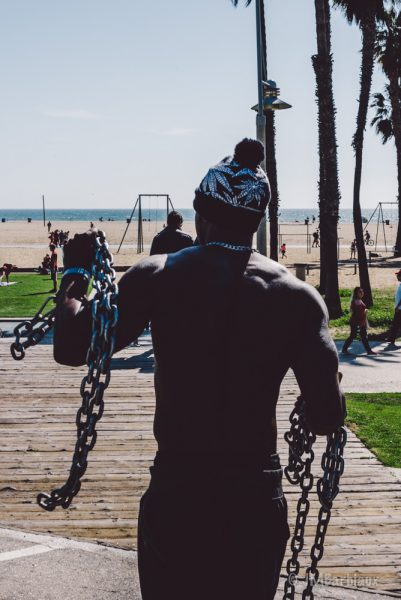 Santa Monica, muscle, leica, street photography, muscle, beach, travel