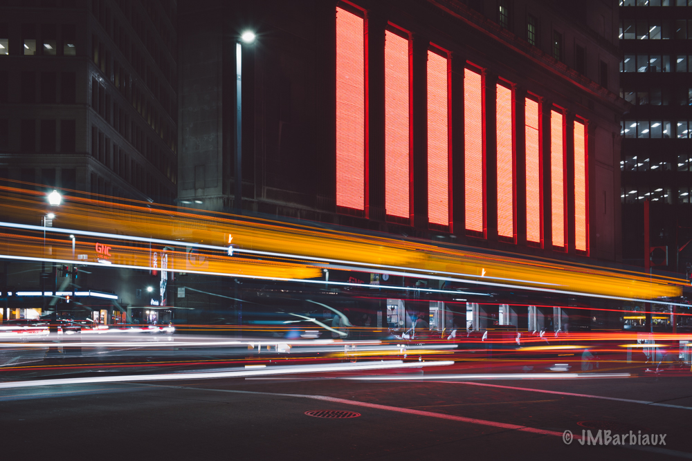 Light trails, urban landscape, street photography,